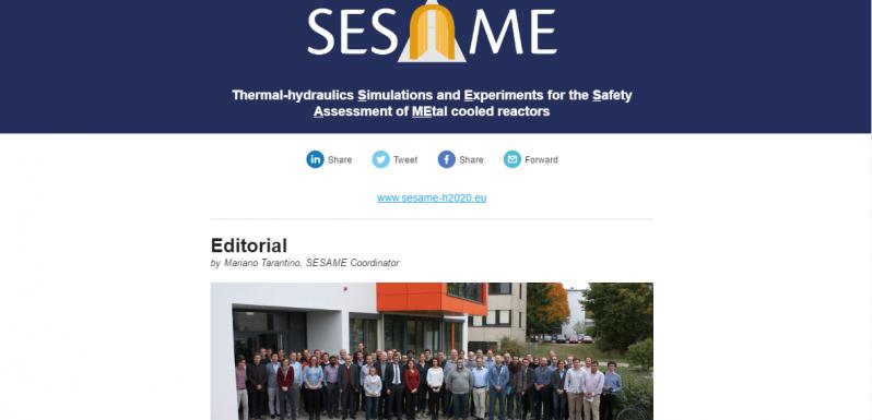 SESAME second newsletter